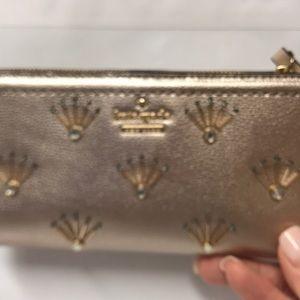 Kate Spade Metallic Blush Embellished Wallet
